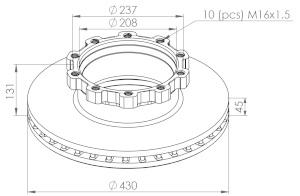 Autoparts-Online Set 60004026 Bremsen//Bremsscheiben Bremsbel/äge//Bremskl/ötze hinten
